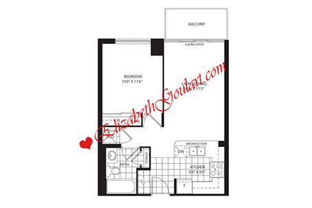 Toronto condos apartments for rent elizabeth goulart for 126 simcoe floor plan