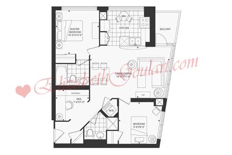 Toronto harbourfront condos for sale rent elizabeth for 16 yonge street floor plans