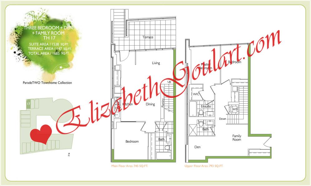 Cityplace condos parade condos floor plans elizabeth for 21 iceboat terrace for sale
